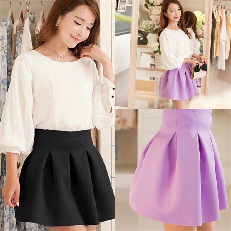 Модные женские школьные юбки