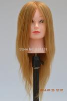 80% human hair mannequin head for salon school
