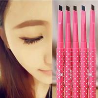Eyebrow pencil waterproof thruputs emperorship automatic rotation lasting makeup maquiagem