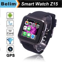 "3G Android Smart Watch Z15 Dual Core MTK6572 1.54"" TFT Screen 3.0MP Camera Bluetooth Watch GPS Watch phone WiFi Free Shipping"