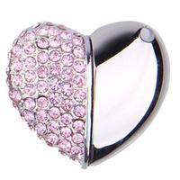 wedding gifts promotional high end 8gb 16gb 32gb 64gb usb flash drive  USB 3.0 pen drive with jewel diamond heart shape