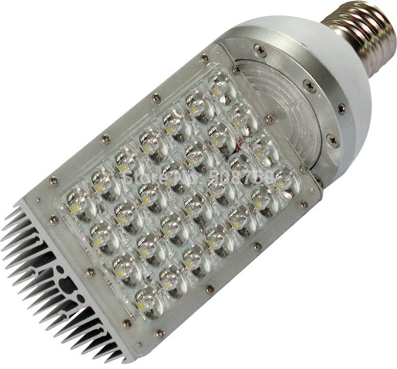 Free shipping 4pcs/lot 28W E40 LED street light outdoor waterproof Bridgelux LED road lamp white 110V 220V 230V 240V white color(China (Mainland))