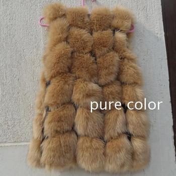 Зима искусственного меха жилет женщин меховой жилет жилеты женские жилет искусственный мех рукавов пальто куртки 11 цвета XS - XXL