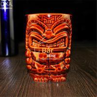 Hot Collection Bar Furnishing Articles Tiki Cup Hawaii Home Decoration Ceramic Cocktail Mug Creative Cup Holiday Decorration