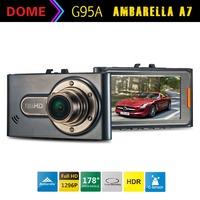 """A7 Ambarella A7LA50 Car DVR Video Recorder G95A Full HD 2304*1296 30fps 2.7""""LCD HDR+G-Sensor H.264 Camera Video Recorder DashCam"""
