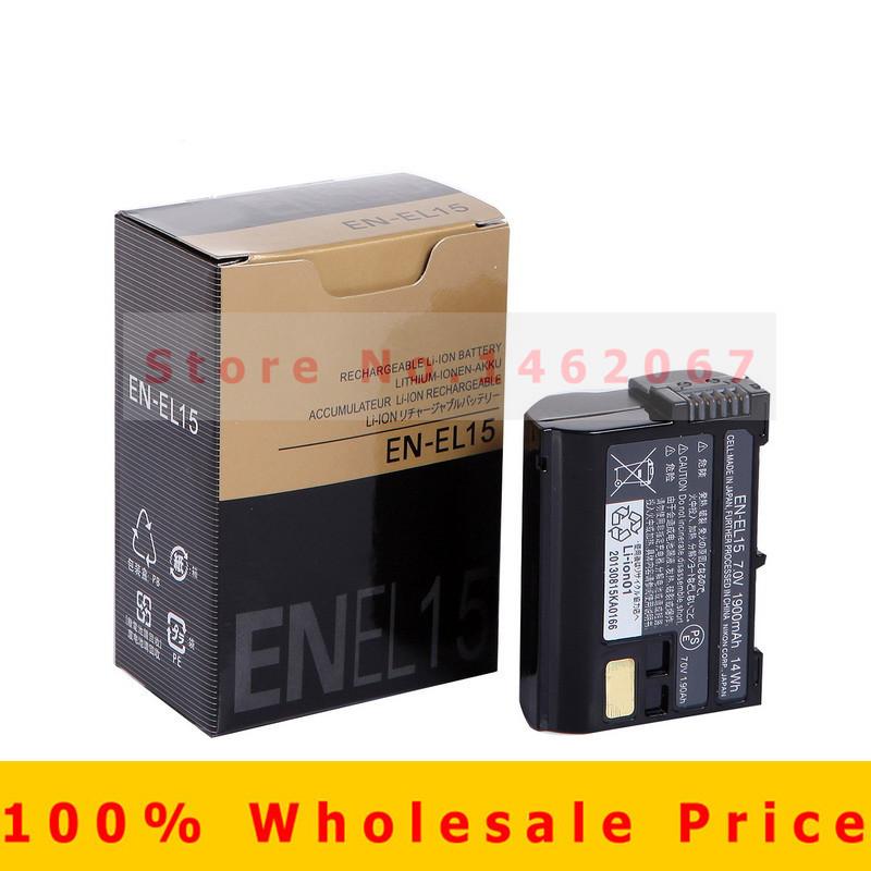 Original EN-EL15 digital Camera batteries EN EL15 ENEL15 Camera Battery pack For Nikon D600 D800 D800E D7000 D7100 V1 MH-25(China (Mainland))