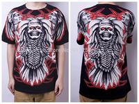 Hot Sales Skull Printing Men 3D T-shirt Summer Cotton Casual Tees Short Sleeves Black Asian Size S-XXL FS3233