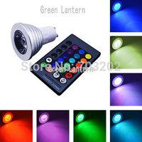 Colorful 4W RGB GU10 LED Spotlight Bulb Light IR Remote Control