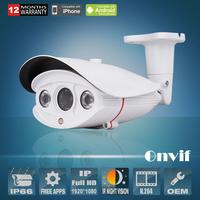 Onvif H.264 1920x1080P 2.0Megapiexl Sony Sensor 25fps Waterproof Day Night Color Array IR Network IP Camera