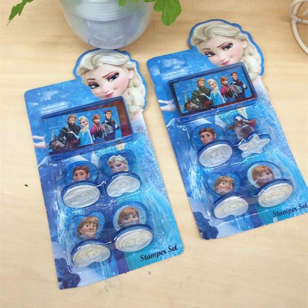 2014 New Cartoon Cartoon toys Seal Stamp Ink Pad Children Gift Kids Christmas Toys Princess Romance For Girls c10(China (Mainland))