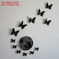 Hot 2015 Mirror Wall Art Clocks 3D Best Home Decoration Modern Design Watch Wall Stickers Novelty Households Clocks Home Decor