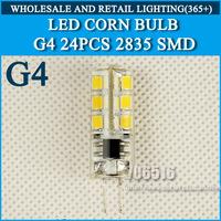 10PCS/lot G4 LED 12V DC/3W AC/5W Led Lamp LED Bulb 2835SMD 24LED lamp 360 Beam Angle LED spot light warranty Free Shipping