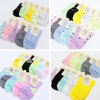 New women socks 100% Cotton 20pieces=10Pairs/Lot long warm sock candy socks ladies female's winter socks factory cheap