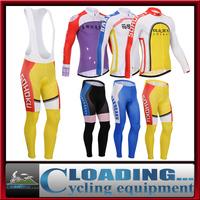 2015 new Sohoku pedal men's winter clothing for road bike racing fleece long cycling sportswear jersey thermal bib pants jacket