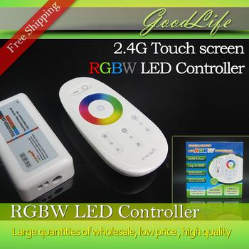 2.4 г беспроводного управления сенсорный экран RGBW из светодиодов контроллер DC12-24A ...