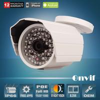 2.0Megapixel 1080P HD Build-in POE P2P Onvif H.264 Sony Sensor 25fps Outdoor 48IR Day Night Network IP Cameras