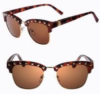 8 Colors Lady's Fashion Anti UV 400 Metal Round Sunglasses 2014 Women's Sunglasses S914