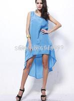 Women beach OL Vest dress Sleeveless Dovetail Long dress recreational Outside smock dresses Sunshine Beach Dress