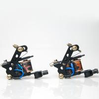 BJT Tattoo Machine Gun Dual 10-Wrap Coils Set for Liner 50v 33uf/ shader 63v 47uf