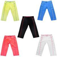 La Isla Women's Yoga Running Workout Sports Capri Pants XS S M L XL Black Blue White Orange Yellow