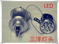 Mountain bike hub dynamo generator power led lighting 6v 2.4w