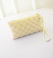 2014 new winter spring wallet Lingge fashion handbags mobile phone bag zero Purse Handbag