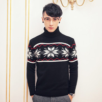 Fashion Mens Turtleneck Heaps Collar Knit Pullover Classic Men Sweater Pullovers