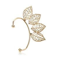 Fashion Women Filigree Leaf Ear Cuff Earrings Vintage Punk Rock Gold Plated A05019