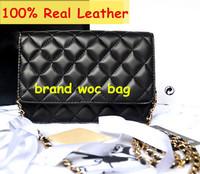 Luxury Brand Classical Woc Bag Wallet On Chain Women Genuine Leather Lambskin Mini Flap Messenger Bags Designer Handbags 33814