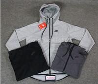 3 colors Original men NK fleece cardigans sweatshirt with hood thick basketball sports jacket jordan hoodies with velvet