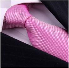 Fashion Brand Pink Silk Ties Cravate For Mans Gentlemen Wedding Dress Neckties Corbatas Bowties gravatas masculinas