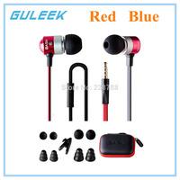 BASN M1 3.5mm Jack Wired In-ear Earphones w/ Headphone Noise Isolating Earbud - Blue/Red + Black