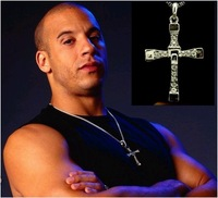 Fashion titanium steel necklace  The Fast and the Furious 5 necklace male cross pendant Necklace