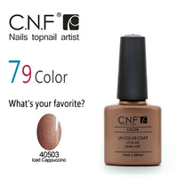 2015 New (8pcs/Lot)*7.3ml CNF original UV Nail Gel Polish Soak Off Nail Gel UV Long Lasting 79Colors Best Gel Polish