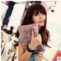 2015 New Shiny Sequins Women Handbags Blingbling Zippe Party Women Day Clutches Fashion Women Bags 4 Colors l1412