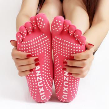 Высокое качество йога носки 5 пальцев носки упражнение спорт пилатес массаж носок бесплатная доставка