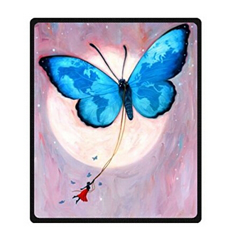 Personalize Custom Beautiful butterfly Home Decoration Bedroom Supplies Blanket For 150X200 CM Soft Fleece Blanket Free Shipping(China (Mainland))