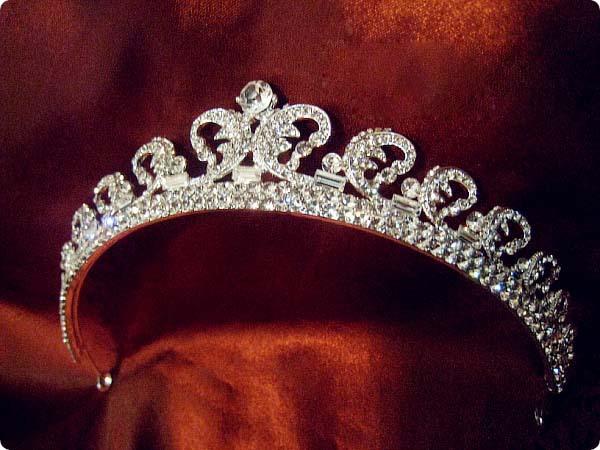 alloy crystal sparkling Princess Kate same style tiara upscale bridal hair accessories Royal Crown wedding hair jewelry(China (Mainland))