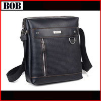 New arrival mans messenger bags leather mans cross body bags small with external zipper pocket on sale