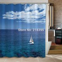 Curtain terylene cloth printed shower curtain SIZE 180*180cm 12 end of a single hook