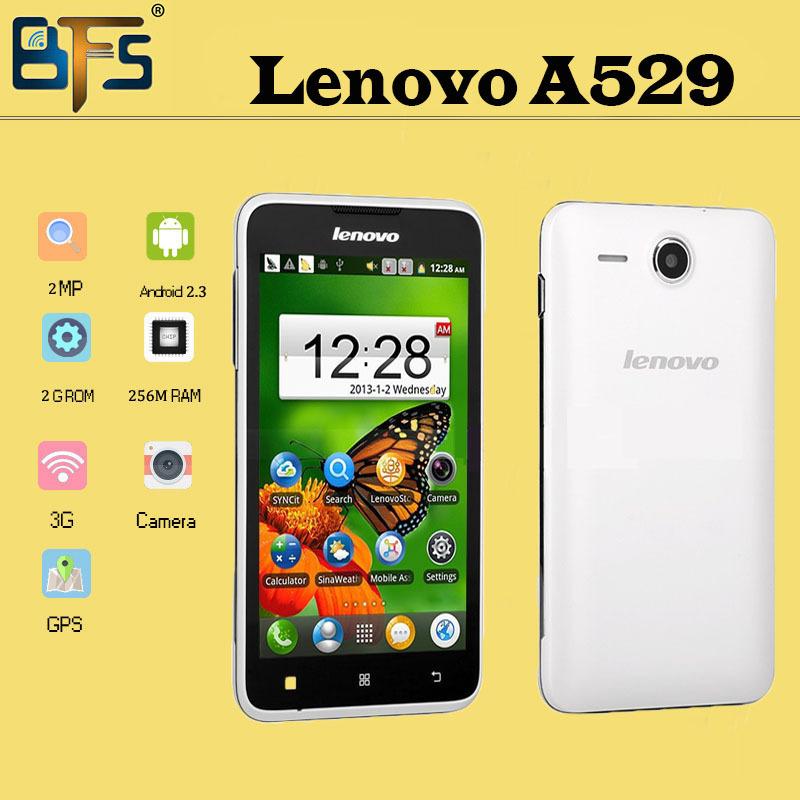 Original téléphone portable lenovo a529 mtk6572 dual core 1.3 ghz dual sim gsm wifi gps android 4.2 512mb rom multi langue russe