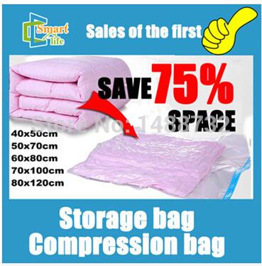 2014 Wholesale Free Shipping 1 Piece Hot Sale Large Space Saver Saving Storage Bag Vacuum Seal Compressed Organizer(China (Mainland))