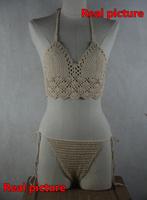 Classic Crochet Bikini Set , 100% Handmade Crochet Swimwear Beachwear Crop Top Set - Crochet Top + Crochet bottom SX / S / M / L