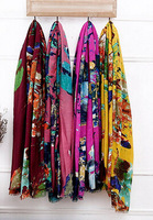 2014 fashion scarf 100% cotton ink print cape gift for ladies