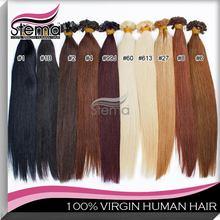 "Free Shipping 16''18""20"" Natural Remy Keratin Flat Tip Hair Extensions Capsule Pre Bonded Keratin Human Hair Extensions 0.6g100s(China (Mainland))"