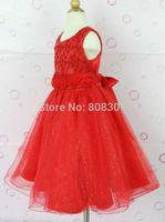 The latest pearl flower girl dress  2014 Kids Kids baby girl Slim banquet dress,baby party dress,kids  dance dress