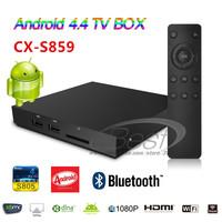 CX-S859 Quad core Android 4.4 Smart TV Box amlogic S805 1G 8G Bluetooth Media Player Set Top Box Wifi DLAN Miracast XBMC