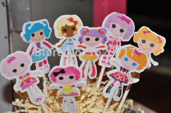 New Sale 8 PCS/LOT Lalaloopsy Cupcake Topper Cake Accessories Kids Birthday Party Supplies Decoration Event Party Supplies(China (Mainland))
