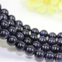 Wholesale 8mm Blue Sand Stone Globose Beads Loose Beads fashion jewelry DIY making 5 pieces/Lot