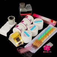 New Pro 14pcs/set Acrylic Crystal Liquid Powder UV Gel Nail Kit Nail Art Builder Brush Pen Painting Nail Art     Forms Tool Set